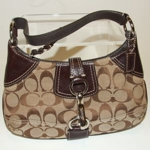 Coach Logo Hampton Clip Hobo Handbag 10283